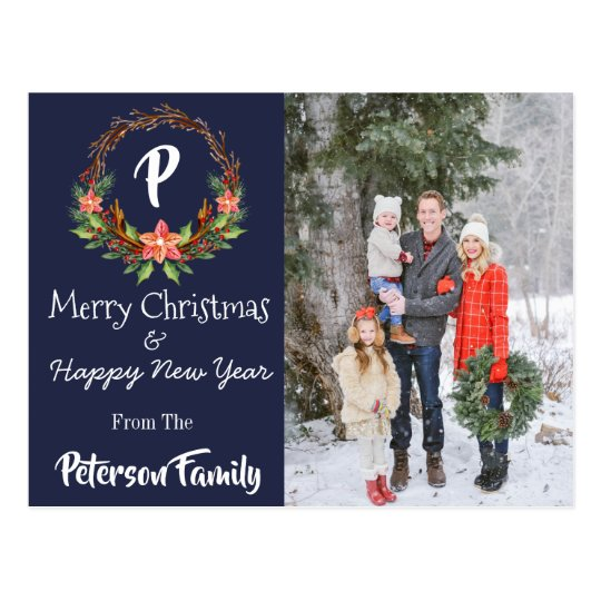 Navy Christmas & New Year Postcard
