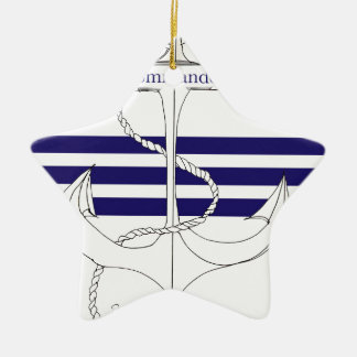navy commander, tony fernandes ceramic star decoration