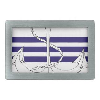 navy commander, tony fernandes rectangular belt buckle