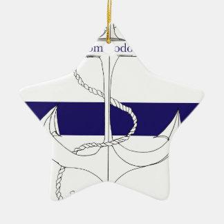 navy commodore, tony fernandes ceramic star decoration