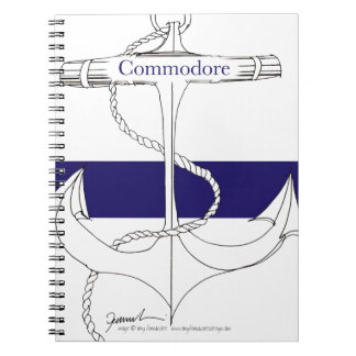 navy commodore, tony fernandes spiral notebook