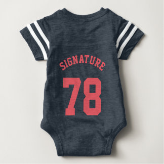 Navy & Coral Baby | Sports Jersey Design Shirt