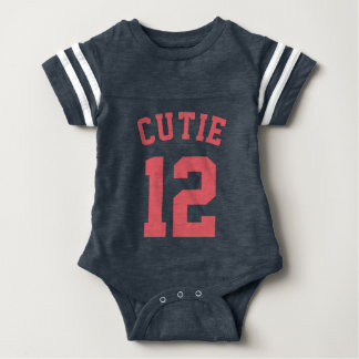 Navy & Coral Baby | Sports Jersey Design T Shirt