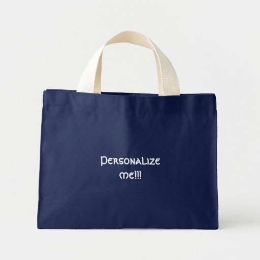 Navy customizable tote tote bags