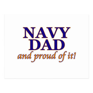 Navy Dad and Proud of It Postcard