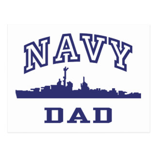 Navy Dad Postcard