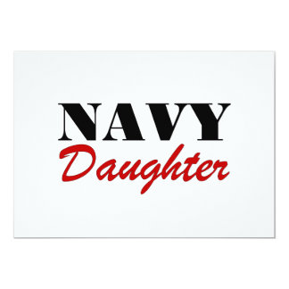 Navy Daughter 13 Cm X 18 Cm Invitation Card