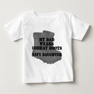 Navy Daughter Dad CB Baby T-Shirt