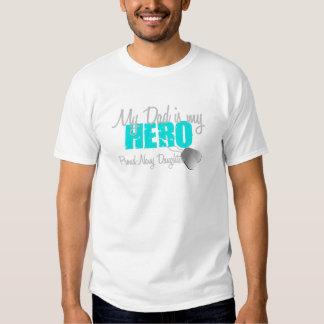 Navy Daughter Hero Dad T Shirt