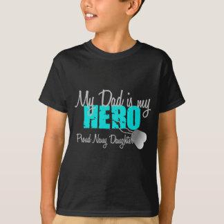 Navy Daughter Hero Dad T-Shirt