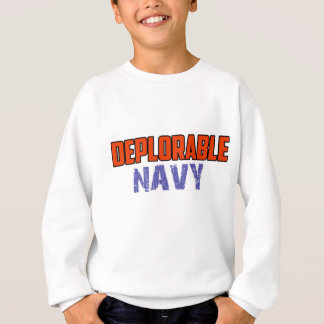NAVY DESIGN SWEATSHIRT