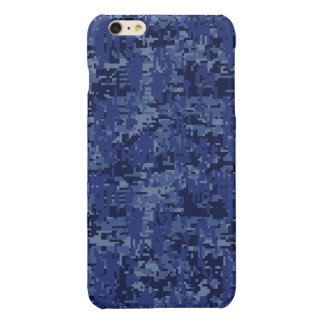 Navy Digital Camo Background Ready to Customize iPhone 6 Plus Case