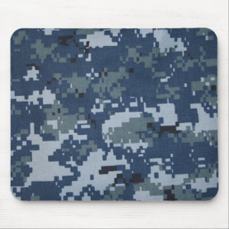 Navy Digital Camouflage Mouse Pad