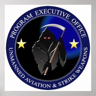 Navy Drone Logo Grim Reaper Poster
