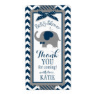 Navy Elephant Bow-tie Bird Chevron Gift Label