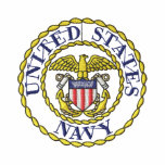 Navy Emblem Embroidered Shirts