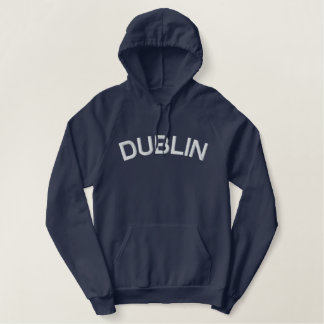 Navy Embroidered Dublin Hoodie