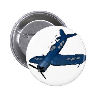 NAVY f4u corsair diving 6 Cm Round Badge