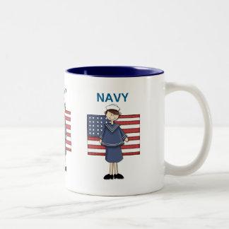 Navy Female Customizable Two-Tone Mug