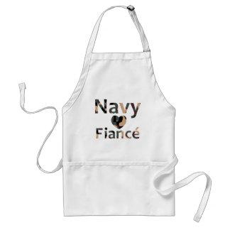 Navy Fiance Heart Camo Apron