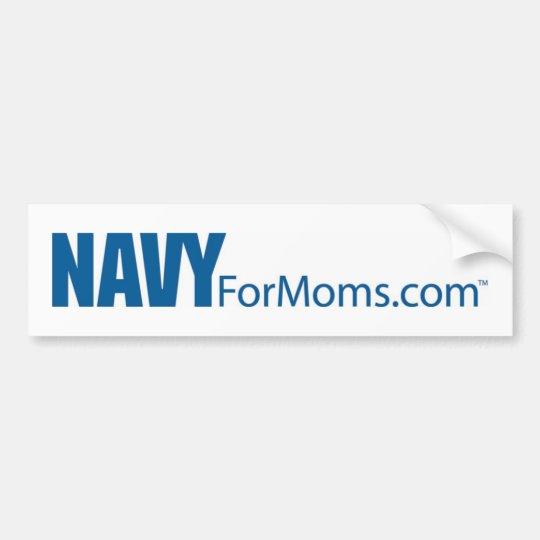 Navy for MOMs Bumper Sticker