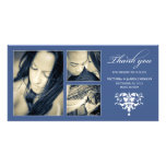 NAVY FORMAL COLLAGE | WEDDING THANK YOU CARD PHOTO CARD