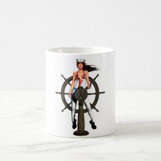 Navy Girl Basic White Mug