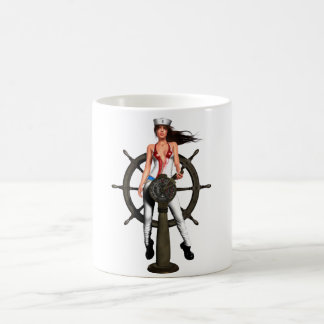 Navy Girl Coffee Mug