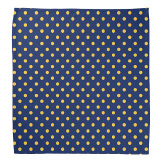 Navy Gold Polka Dot Bandana