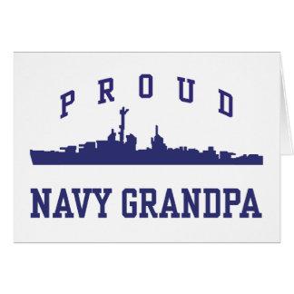 Navy Grandpa Greeting Card