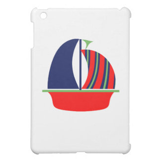 Navy Green Red Sail Boat Cover For The iPad Mini