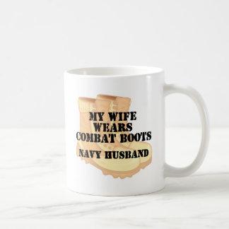 Navy Husband Wife DCB Mugs