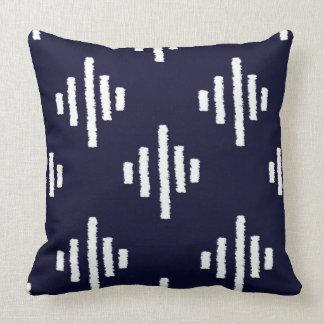Navy Ikat cushion