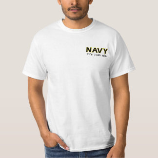 Navy. It's just ok. - Go Army - white tee