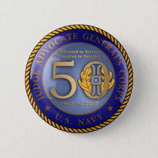 Navy JAG Corps 50th 6 Cm Round Badge