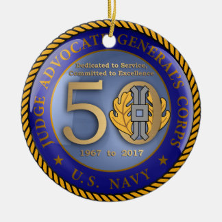 Navy JAG Corps 50th Christmas Ornament