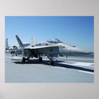 Navy Jet Poster