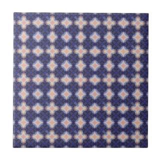 Navy Kaleidoscope Pattern Tile