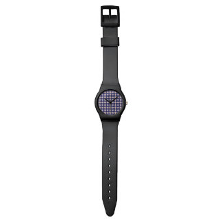 Navy Kaleidoscope Pattern Wristwatch