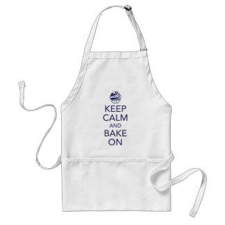 Navy Keep Calm and Bake On Apron