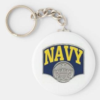 Navy Key Ring