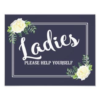 navy Ladies please help yourself wedding party Photo Print