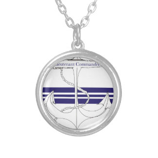 navy lieutenant commander, tony fernandes silver plated necklace