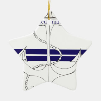 navy lieutenant, tony fernandes ceramic star decoration