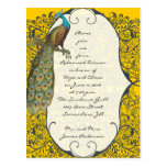 Navy Love Bird Damask Rehearsal Dinner Invitations