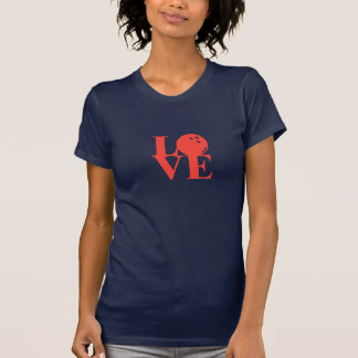 """Navy """"Love"""" Bowling Tee by League Champ Bowling"""