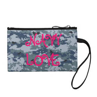 Navy Love Purse Coin Purse