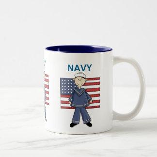 Navy Male Customizable Mugs