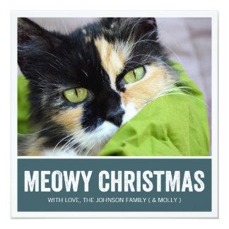 Navy Meowy Christmas - Pet Photo Holiday Cards Invitations