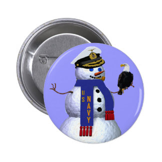 Navy Military Button